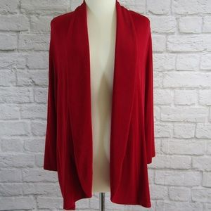 Chico's travelers red open cardigan